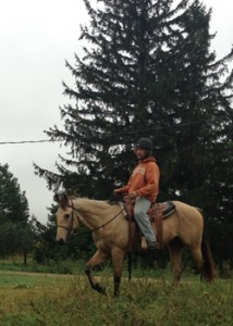 Mark riding Gunner